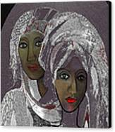 065 - White Veiled Ladies   Canvas Print by Irmgard Schoendorf Welch