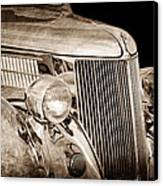 1936 Ford - Stainless Steel Body Canvas Print by Jill Reger