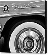 1951 Mercury Montclair Convertible Wheel Emblem Canvas Print by Jill Reger