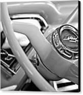 1957 Chevrolet Cameo Pickup Truck Steering Wheel Emblem Canvas Print by Jill Reger