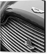 1960 Aston Martin Db4 Gt Coupe' Grille Emblem Canvas Print by Jill Reger