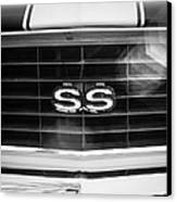 1969 Chevrolet Camaro Rs-ss Indy Pace Car Replica Grille Emblem Canvas Print by Jill Reger
