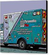 Alameda County Medical Support Vehicle Canvas Print by Samuel Sheats
