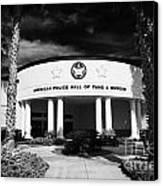 american police hall of fame and museum Florida USA Canvas Print by Joe Fox