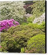 Asticou Azelea Garden - Northeast Harbor - Mount Desert Island - Maine Canvas Print by Keith Webber Jr