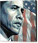 Barack Obama Artwork 2 Canvas Print by Sheraz A