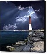 Barnegat Inlet Lighthouse Nj Canvas Print by Skip Willits
