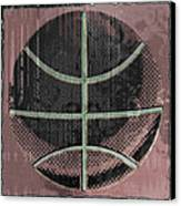 Basketball Abstract Canvas Print by David G Paul