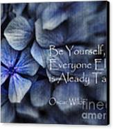 Be Yourself Canvas Print by Karen Lewis