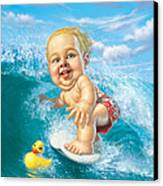 Born To Surf Canvas Print by Mark Fredrickson