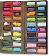 Box Of Pastels Canvas Print by Bernard Jaubert