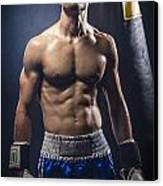 Boxer Canvas Print by Juan  Silva