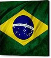 Brazilian Flag Canvas Print by Les Cunliffe