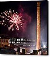 Bull Durham Fireworks Canvas Print by Jh Photos
