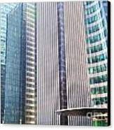 Business Skyscrapers Modern Architecture Canvas Print by Michal Bednarek