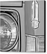 Cadillac Headlight Emblem Canvas Print by Jill Reger