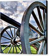 Cannon Over Gettysburg Canvas Print by Andres Leon