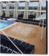 Caribbean Cruise - On Board Ship - 12129 Canvas Print by DC Photographer