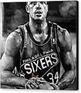 Charles Barkley Canvas Print by Michael  Pattison