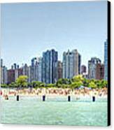 Chicago North Avenue Beach Canvas Print by Patrick  Warneka