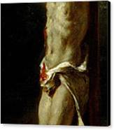 Christ On The Cross Canvas Print by Delacroix