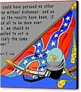 Confederate States Of America Robert E Lee Canvas Print by Digital Creation