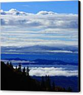 Courthouse Valley Sea Of Clouds Canvas Print by Michael Weeks
