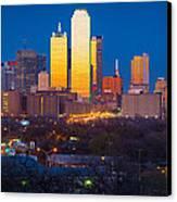 Dallas Skyline Canvas Print by Inge Johnsson