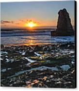 Davenport Beach Sunset 1 Canvas Print by About Light  Images