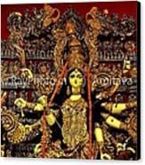 Durga Statue The Hindu Goddess #2 Canvas Print by Amitava Ray