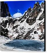 Emerald Lake In Rocky Mountain National Park Canvas Print by Dan Sproul