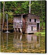 Falling Spring Mill  Canvas Print by Marty Koch