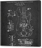 Fender Guitar Patent Drawing From 1961 Canvas Print by Aged Pixel