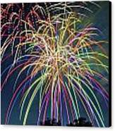 Fireworks Canvas Print by Michael Shake