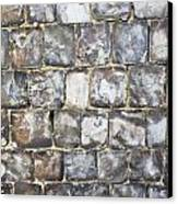 Flint Stone Wall Canvas Print by Tom Gowanlock