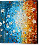 Flowers After Rain Canvas Print by Denisa Laura Doltu