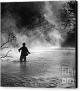 Fly Fishing Canvas Print by Iris Greenwell
