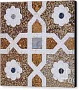 Geometric Designs On The Baby Taj Agra Canvas Print by Robert Preston