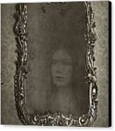 Ghost Of A Woman Reflected In A Mirror Canvas Print by Lee Avison