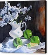 Glenda's Still Life Canvas Print by Denny Dowdy