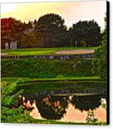 Golf Course Beauty Canvas Print by Frozen in Time Fine Art Photography
