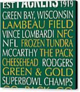 Green Bay Packers Canvas Print by Jaime Friedman