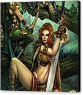 Grimm Fairy Tales Presents Black Diamond Exclusives Canvas Print by Zenescope Entertainment