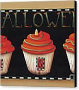 Halloween Cupcakes Canvas Print by Catherine Holman