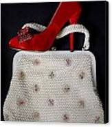 Handbag With Stiletto Canvas Print by Joana Kruse