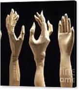 Hands Of Wood Puppets Canvas Print by Bernard Jaubert