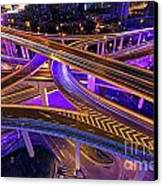 Highway Intersection In Shanghai Canvas Print by Lars Ruecker