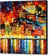 Inviting Harbor Canvas Print by Leonid Afremov