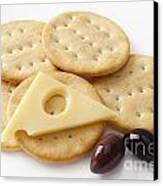 Jarlsberg Cheese And Crackers Canvas Print by Colin and Linda McKie