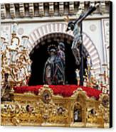 Jesus Christ On The Cross In Cordoba Canvas Print by Artur Bogacki